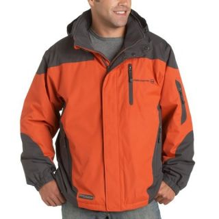 Free Country Men's FCX Performance Colorblock Jacket, Lead Pencil/Black, Extra large: Clothing