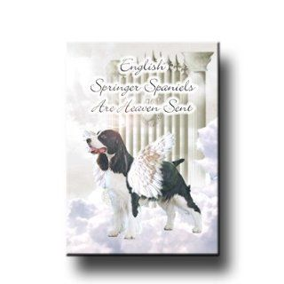 English Springer Spaniel Heaven Sent Fridge Magnet : Refrigerator Magnets : Everything Else