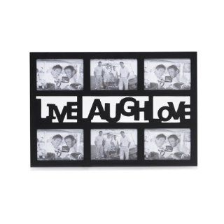 Melannco, 6 Opening Live Love Laugh Black Sent Frame   Collage Frames