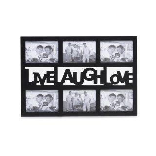 Melannco, 6 Opening Live Love Laugh Black Sent Frame   Collage Frames