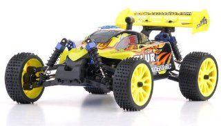 REMOTE CONTROL RC RADIO CONTROL 1/16 2.4Ghz Exceed RC Blur Nitro Gas Powered RTR Off Road Buggy Fire Yellow (OR COLOR MAY VARY SENT AT RANDOM) Toys & Games