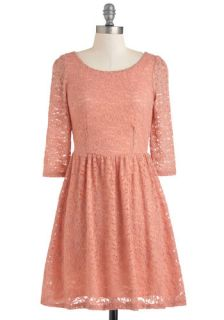 Peach Champagne Dress  Mod Retro Vintage Dresses