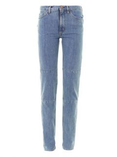 Patched up high rise straight leg jeans  Aries  MATCHESFASHI