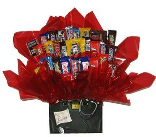 Chocolate Candy Bouquet in a Doctor's Bag Get Well Soon gift box