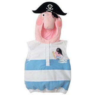 Peppa Pig George Pig Pirate Dress up Halloween Costume (4 5 years): Infant And Toddler Costumes: Clothing