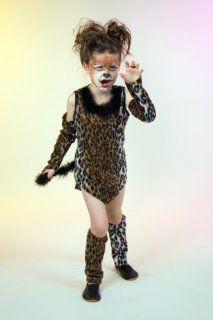 Karneval Kinder Kost�m Wildkatze M�dchen Katze Katzenkost�m Gr. 128: Spielzeug