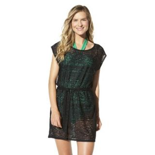 Merona Womens Crochet Coverup Dress  Black L
