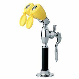Speakman SE 927 Polished Chrome & Yellow Eyesaver® Drench Hose and Eyewash Combi