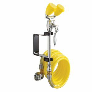 Speakman SE 925 TEW Polished Chrome & Yellow Eyesaver® Drench Hose and Eyewash C