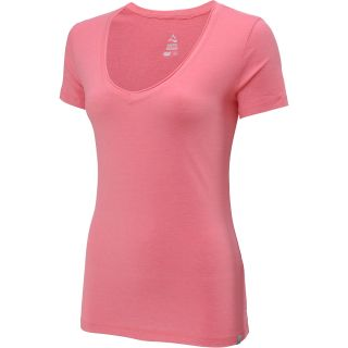 ALPINE DESIGN Womens V Neck Short Sleeve T Shirt   Size: Medium, Sunkist Coral