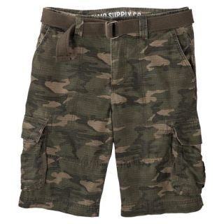 Mossimo Supply Co. Mens Cargo Shorts   Dark Badge Green 28