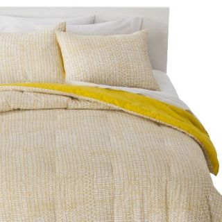 Room Essentials Stitch Comforter Set   Yellow (King)