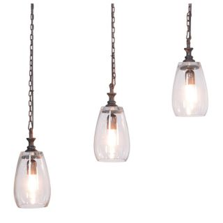 Amerie 3 light Black Island Edison Chandelier with Bulbs