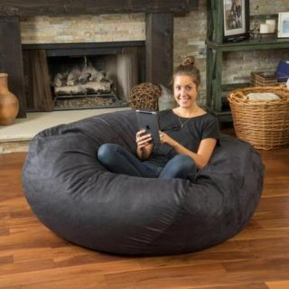 Christopher Knight Home Madison Faux Suede 5 foot Lounge Beanbag Chair Brown