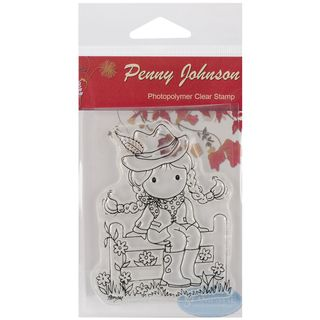 Stampavie Penny Johnson Clear Stamp Howdy Cowgirl 3 1/2in