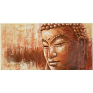 "Safavieh 27.6 in. x 55.1 in. ""Orange and White Buddha Painting"" Wall Art ART2000A"