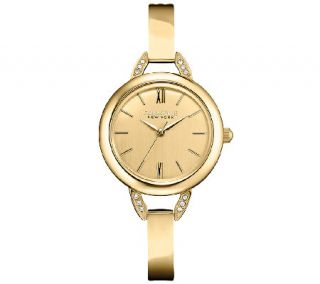Caravelle New York Womens Goldtone Bangle Watch   J336869 —