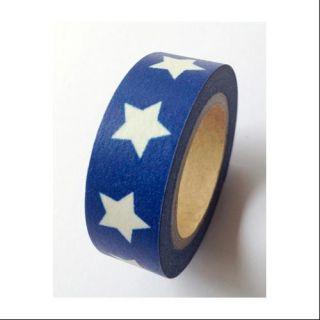 Washi Tape 15mmX10m Blue W/Bold Stars