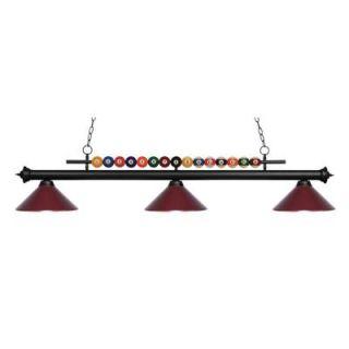 Filament Design Kerstin 3 Light Matte Black Billiard Light CLI JB049282
