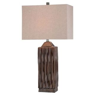Lite Source Ashby 1 Light Table Lamp   Brown, Verde Dripped Glaze