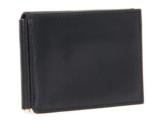 Bosca Old Leather Collection   Money Clip w/ Pocket Black Leather