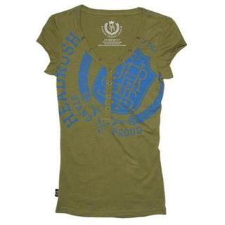 Headrush Women's Stand Proud T Shirt   Medium   Lichen Green