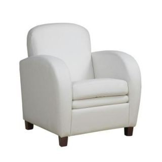 Specialities Leather Look Accent Chair in White I 8037
