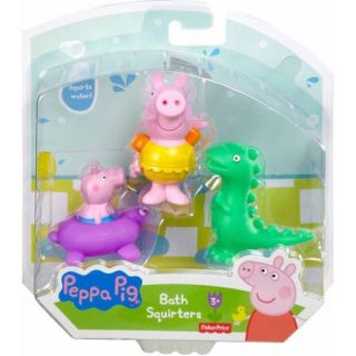 Fisher Price Peppa Pig Peppa, George and Dinosaur Bath Squirters