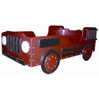 Just Kids Stuff Fire Truck Wood Toddler Bed