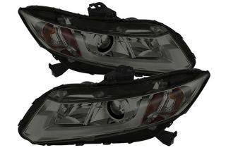 2012, 2013, 2014 Honda Civic Headlights   Spyder PRO YD HC12 DRL SM   Spyder Headlights