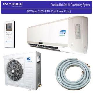 Ramsond 24,000 BTU 2 Ton Ductless Mini Split Air Conditioner and Heat Pump   220V/60Hz 74GW2