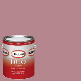 Glidden DUO 1 gal. #HDGR25U Vintage Rouge Red Flat Latex Interior Paint with Primer HDGR25U 01F