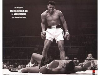 Muhammad Ali   1965 1st Round Knockout Against Sonny Liston Poster Print (20 x 16)