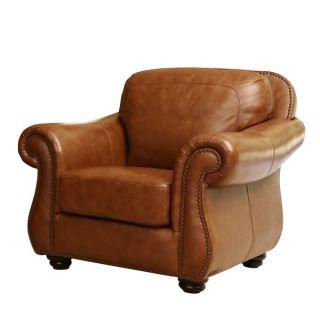 ABBYSON LIVING Arizona Top Grain Leather Armchair   Shopping