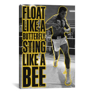 Float like a Butterfly Sting Like a Bee by Muhammad Ali Graphic Art on
