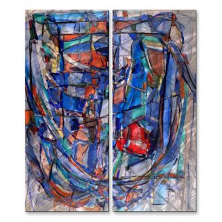 Rib Cage 44 by Wendy Morris 2 Piece Painting Print Plaque Set by All