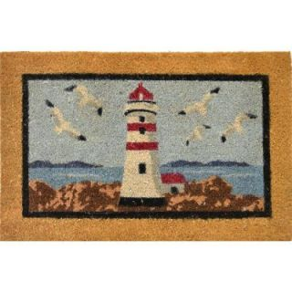 Home Dynamix Fiesta Seagull Lighthouse 18 in. x 28 in. Outdoor Coir Welcome Mat DISCONTINUED 1 1058