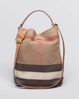 Burberry Canvas Check Medium Ashby Hobo