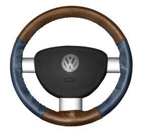 2015 Toyota Sienna Leather Steering Wheel Covers   Wheelskins Tan Perf/Sea Blue Perf 15 1/4 X 4 1/2   Wheelskins EuroPerf Perforated Leather Steering Wheel Covers
