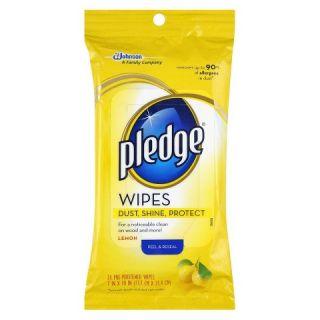 Pledge® Lemon Pre Moistened Wipes 24 Count