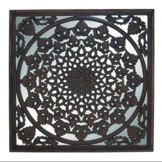 Traditional Modern Charkhi Dadri Arty Unique Wood Mirror Wall Panel Home Decor