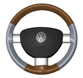 2001 2005 Toyota MR2 Leather Steering Wheel Covers   Wheelskins Tan Perf/Grey Perf 14 3/8 X 3 7/8   Wheelskins EuroPerf Perforated Leather Steering Wheel Covers