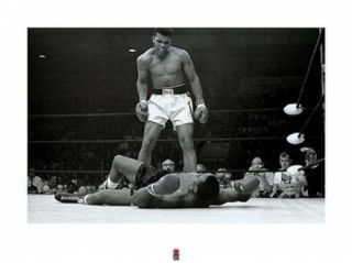 Muhammad Ali   1965 1st Round Knockout Against Sonny Liston Poster Print (32 x 24)