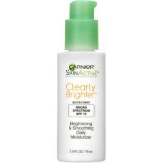 Garnier Skin Active Clearly Brighter Brightening & Smoothing Daily Moisturizer Sunscreen, SPF 15, 2.5 fl oz