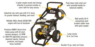 NorthStar Gas Cold Water Pressure Washer — 4000 PSI, 3.5 GPM, Honda Engine, Model# 15781520  Gas Cold Water Pressure Washers