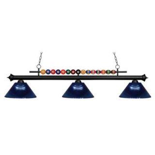 Filament Design Kerstin 3 Light Matte Black Billiard Light CLI JB049138