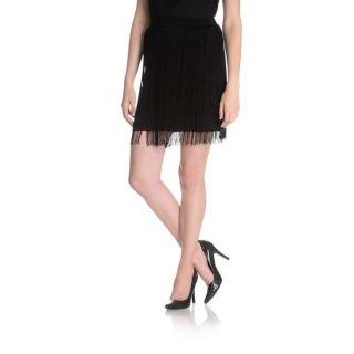 Chelsea & Theodore Womens Thin Fringe Mini Skirt   17471919