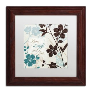 Lisa Audit Botanical Touch Quote II White Matte, Wood Framed Wall