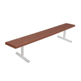 Ultra Play 6 ft. Brown Portable Commercial Park Recycled Plastic Bench without Back G942P BRN6