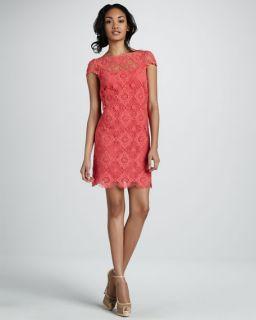 Ali Ro Crochet Cap Sleeve Dress